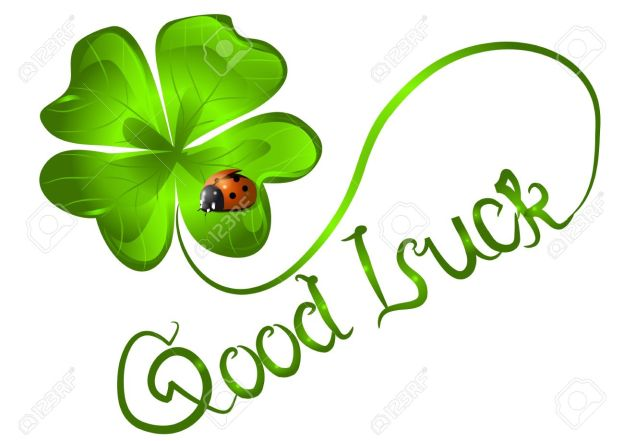 21657467-good-luck-background-with-clover-and-ladybug-Stock-Vector